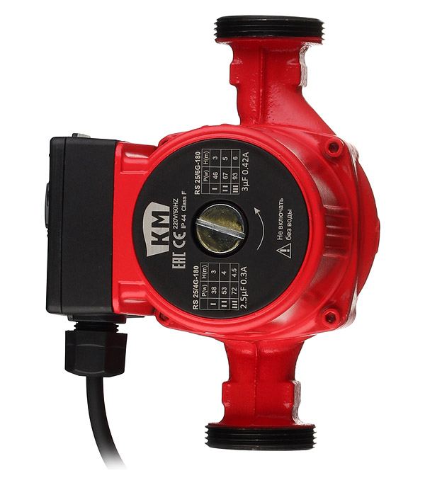 Насос циркуляционный для систем отопления КМ RS25/6G-180 кама rs 25 6 180