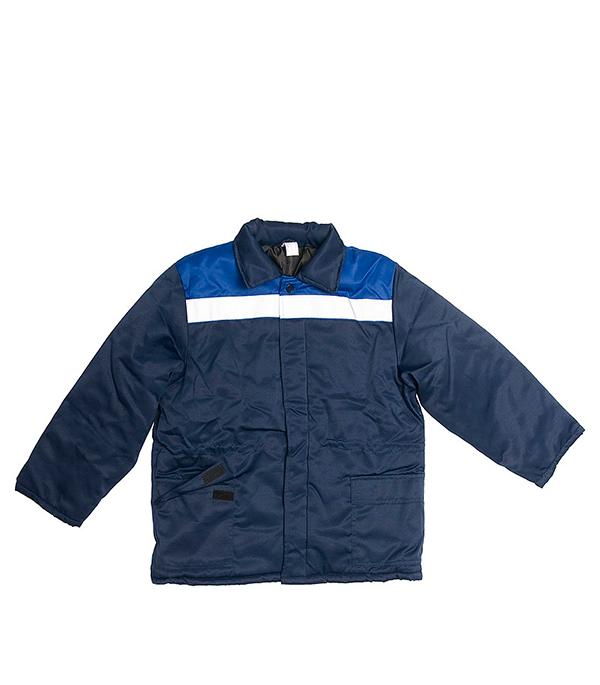 Куртка утепленная Стел Север темно-синяя размер 52-54 (104-108) рост 170-176 стоимость