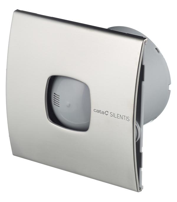 Вентилятор осевой Cata Silentis 10 Inox 140х140 мм d100 мм серебро вентилятор cata silentis 15 inox