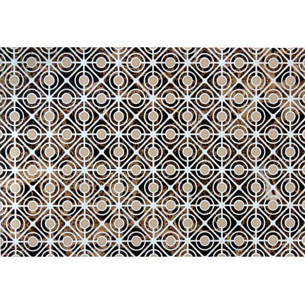 Плитка декор Евро-Керамика Капри темно-коричневая 400x270x8 мм