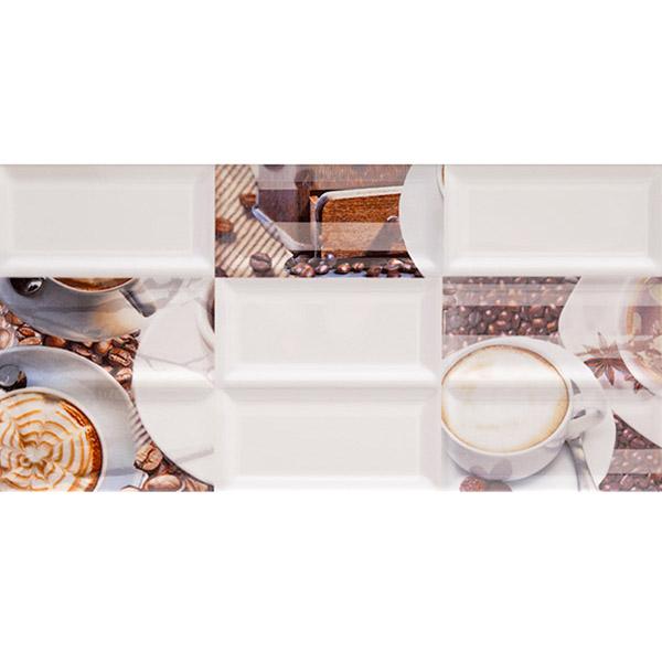 цена на Плитка декор AZORI Вог Латте 201х405х9 мм