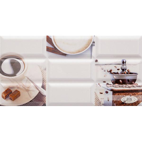 цены Плитка декор AZORI Вог Эспрессо 201х405х9 мм