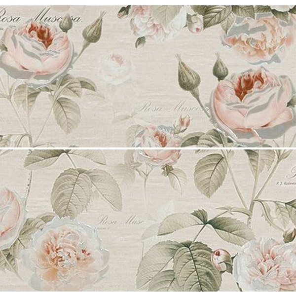 Плитка панно Gracia Ceramica Garden Rose бежевая 600x500x10 мм (2 шт.) панно gracia ceramica palermo beige 02 50x40 комплект