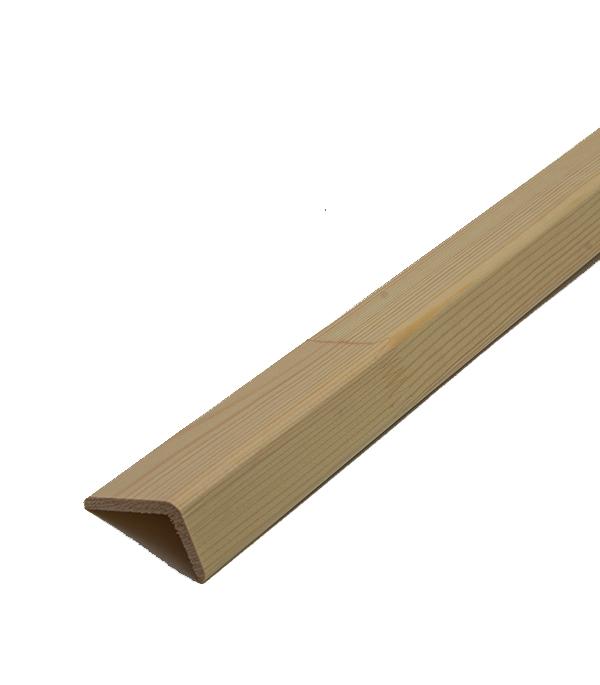 Уголок наружный гладкий неравносторонний 27х45х5х2500 мм сорт экстра сращенный стоимость