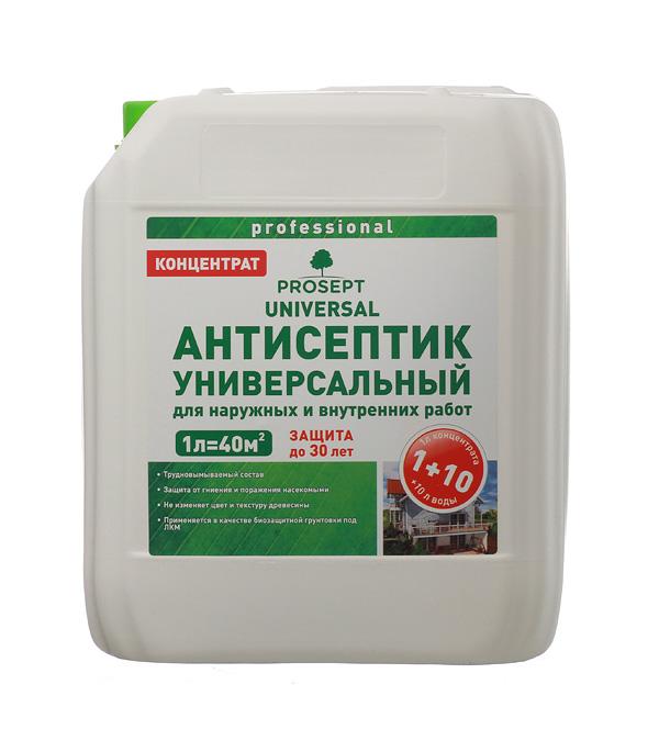 Антисептик Prosept Universal для внутренних и наружных работ концентрат 1:10 5 л антисептик prosept ultra невымываемый концентрат 5л
