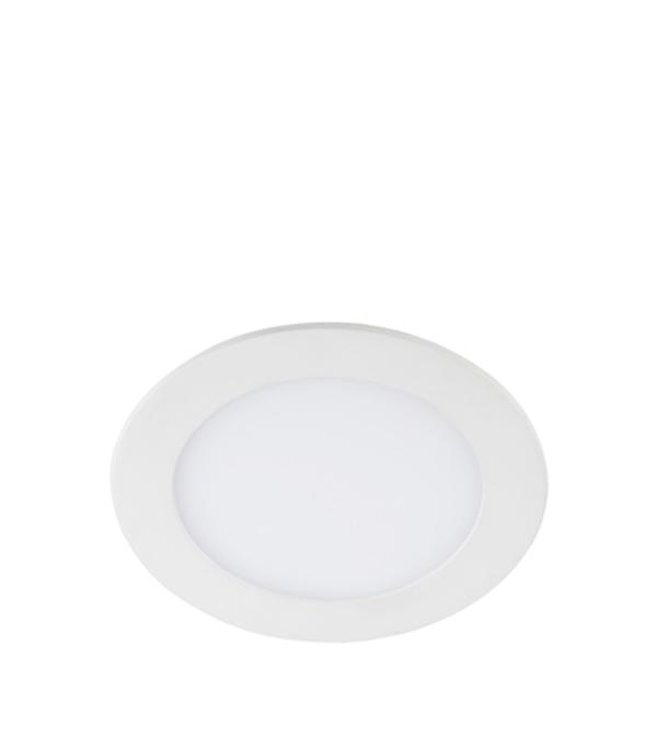 Светильник встраиваемый светодиодный 9 Вт круглый белый IP20 теплый свет