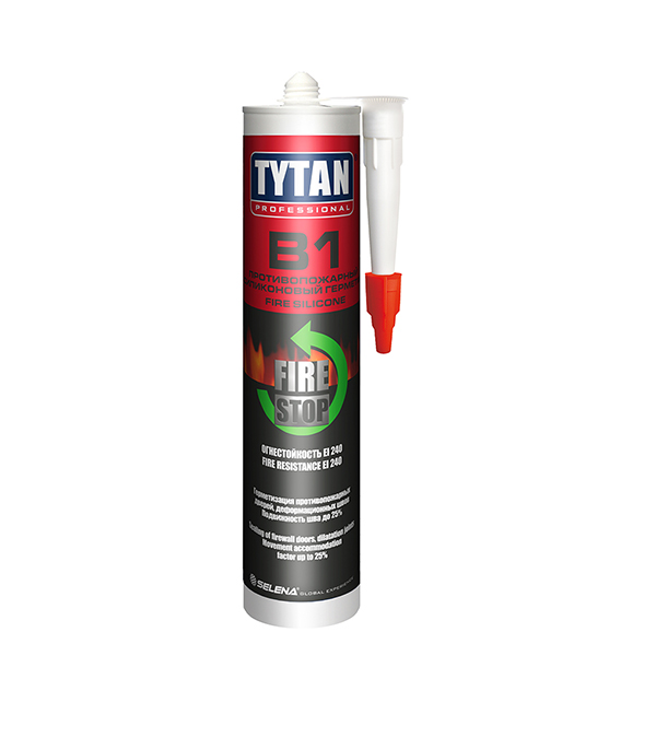 Герметик силиконовый противопожарный Tytan Professional B1 белый 310 мл фото