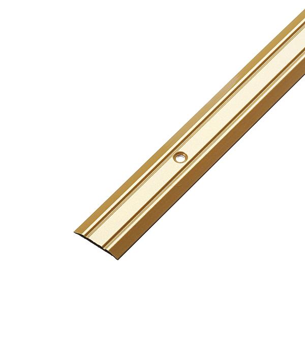 все цены на Порог стыкоперекрывающий 25х900 мм Золото онлайн