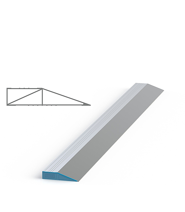 Правило алюминиевое 2 м (трапеция) усиленное