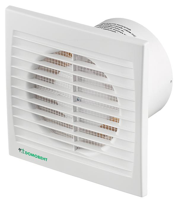 Вентилятор осевой d100 мм Домовент 100С c сеткой от насекомых белый вентилятор осевой домовент 100с d100 мм