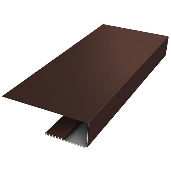 J-профиль металлический Grand Line 2 м коричневый RAL 8017