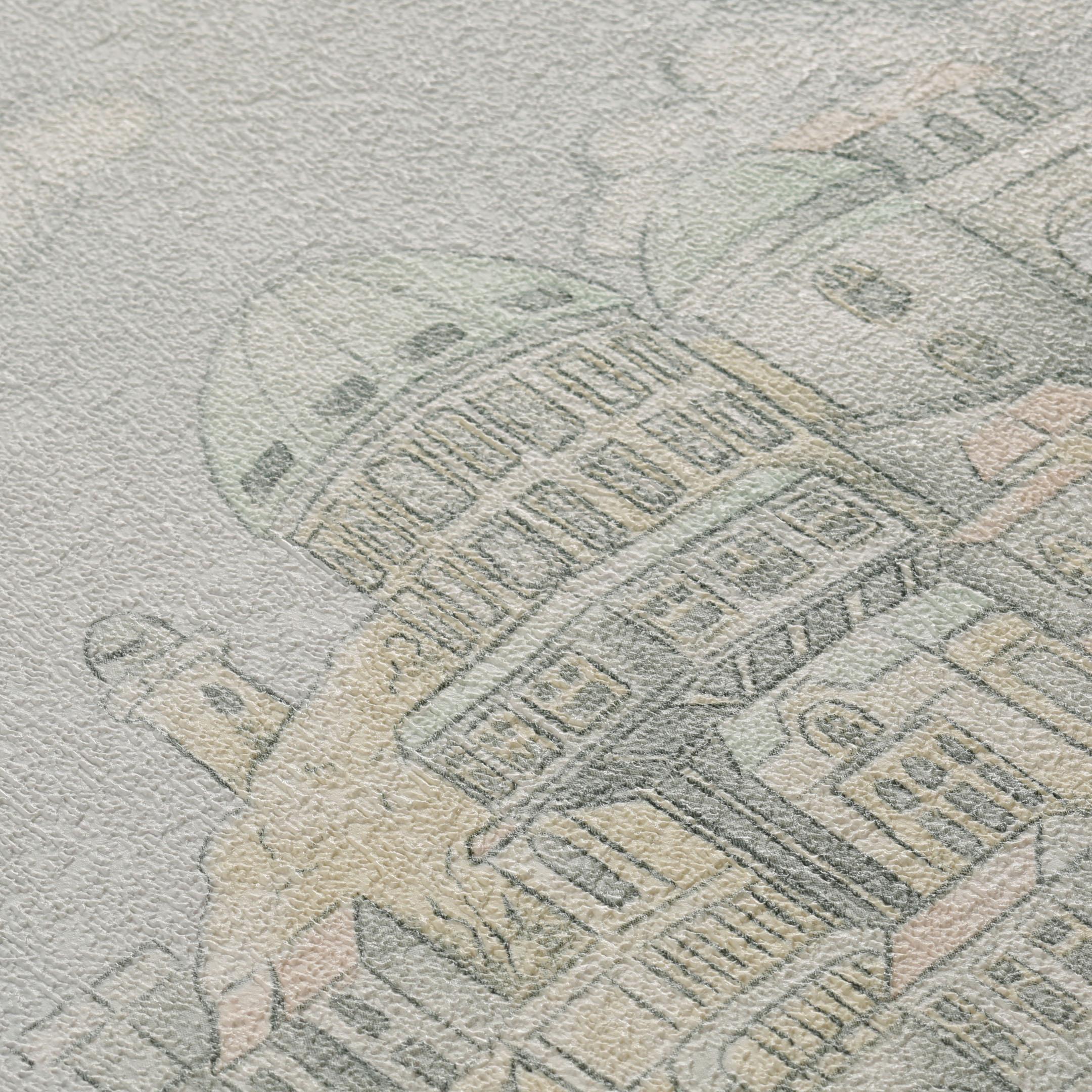 Обои компакт-винил на флизелиновой основе МИР Летающий город 45-240-02 (1,06х10 м) фото