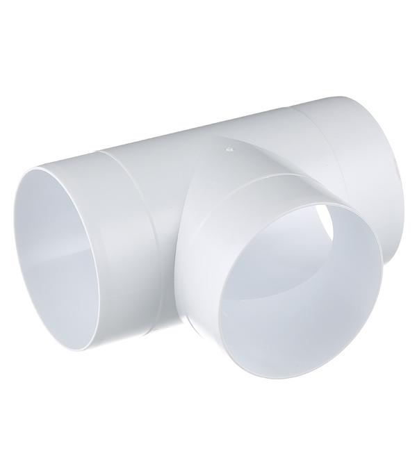 Тройник для круглых воздуховодов ERA пластиковый d100 мм 90°