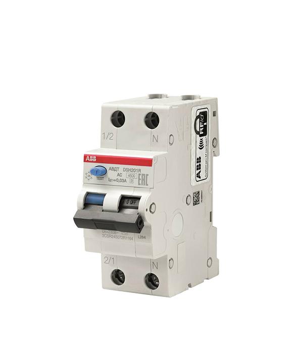 Автомат дифференциальный ABB DSH201R (2CSR245072R1104) 10 А 30 мА 1P+N тип AC 4,5 кА