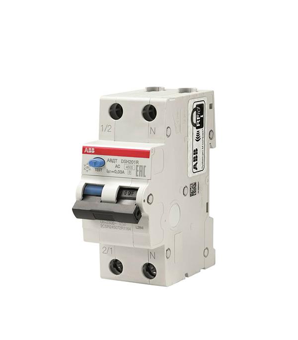 Дифференциальный автомат 1P+N 20А тип C 30 мА 4.5 kA ABB DSH201R jd коллекция 1p 20а с защитой утечки дефолт