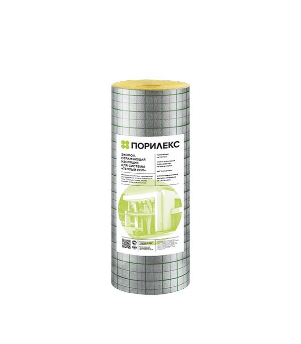 Теплоизоляция Порилекс НПЭ ЛП тип А для системы Теплый пол 3 мм 1,2х25 м с разметкой