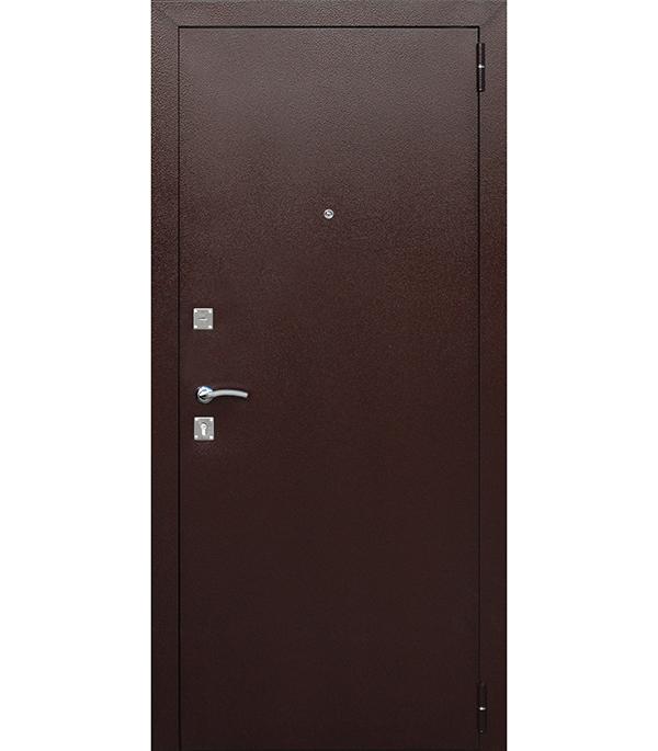 Дверь входная Dominanta правая медный антик - рустикальный дуб 860х2050 мм фото