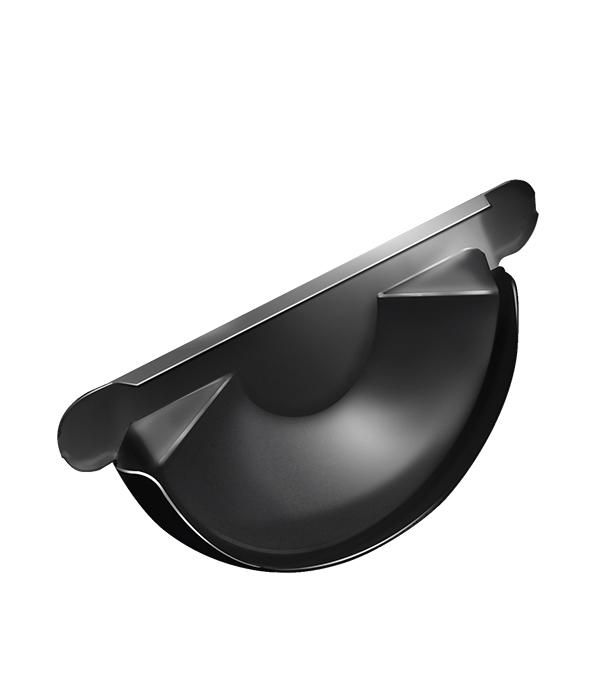 Заглушка желоба Grand Line металлическая d125 мм черная RAL 9005 фото