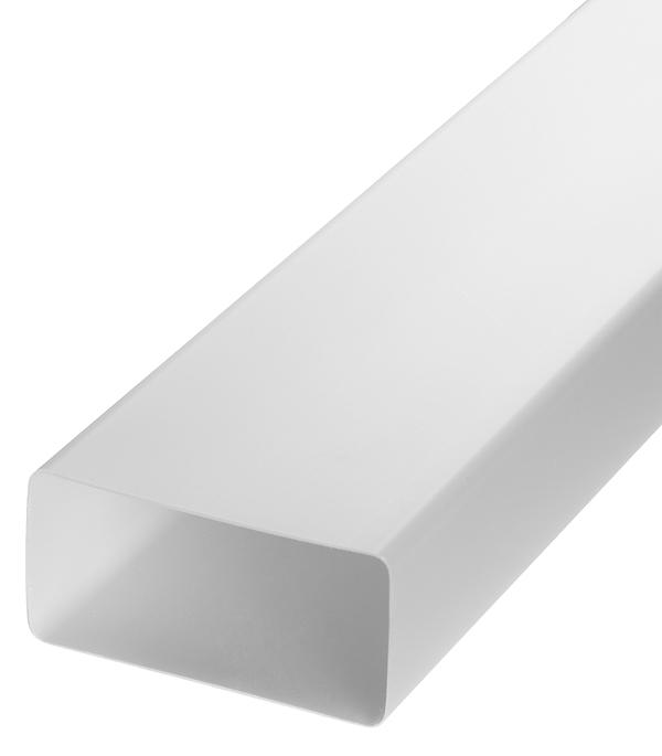Воздуховод плоский пластиковый 60х120 мм 2 м воздуховод pro tex pvc500130 пвх
