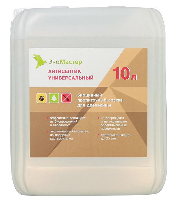 Купить Антисептик ЭкоМастер универсальный бесцветный 10 л, Бесцветный