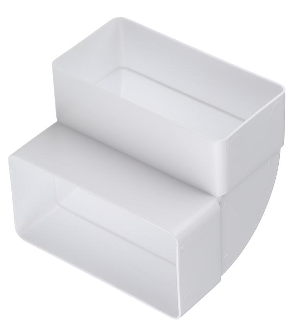 Колено для плоских воздуховодов вертикальное пластиковое 60х120 мм 90° колено круглое 90 градусов awenta ko100 23