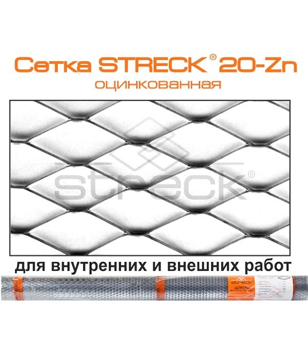 Сетка штукатурная ЦПВС оцинкованная Штрек ячейка 20х20 мм (рулон 1х15 м) сетка штукатурная тканая ячейка 8х8 мм d0 4 0 5 мм рулон 1х30 м