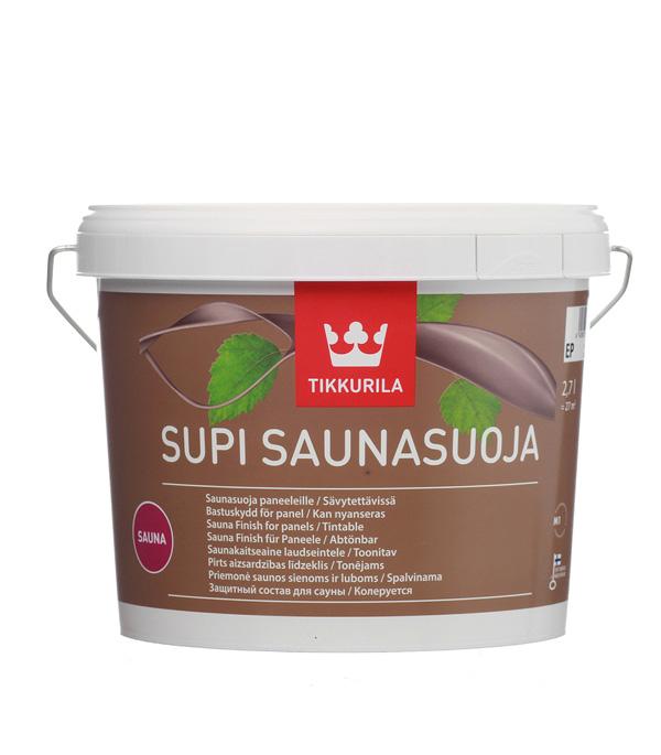 Антисептик Tikkurila Supi Saunasuoja для бань и саун бесцветный 2,7 л стоимость