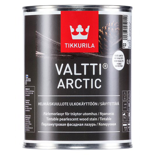 Фасадная лазурь Tikkurila VALTTI ARCTIC EP 0,9л