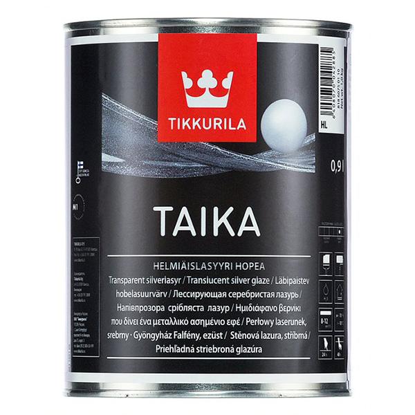 Лазурь одноцветная Tikkurila TAIKA HL серебристая полуглянцевая 0,9 л