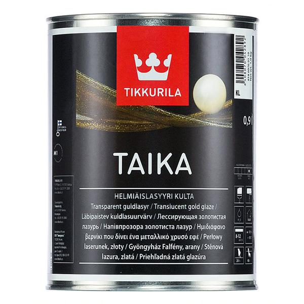 Лазурь одноцветная Tikkurila TAIKA KL золотистая полуглянцевая 0,9 л