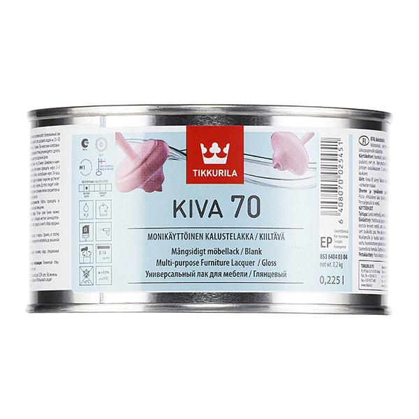Фото - Лак акрилатный Tikkurila Kiva 70 основа EP бесцветный 225 мл глянцевый добавки
