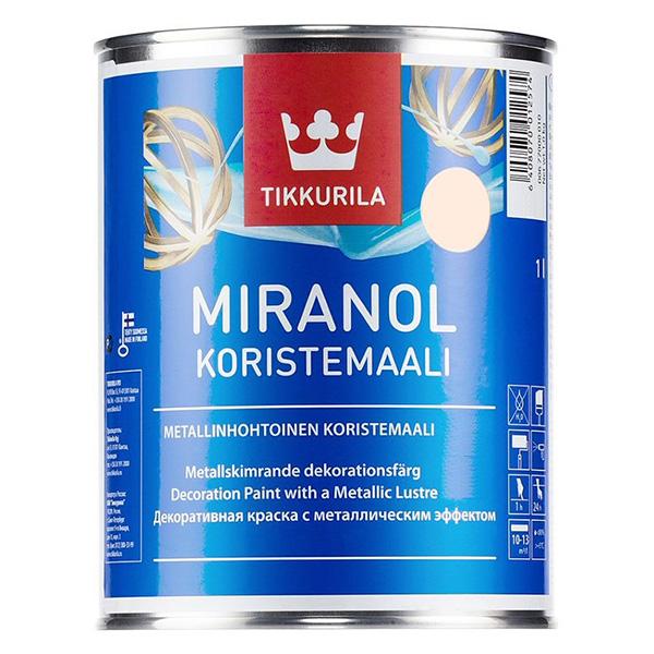 Краска декоративная Tikkurila MIRANOL медная полуматовая 1 л