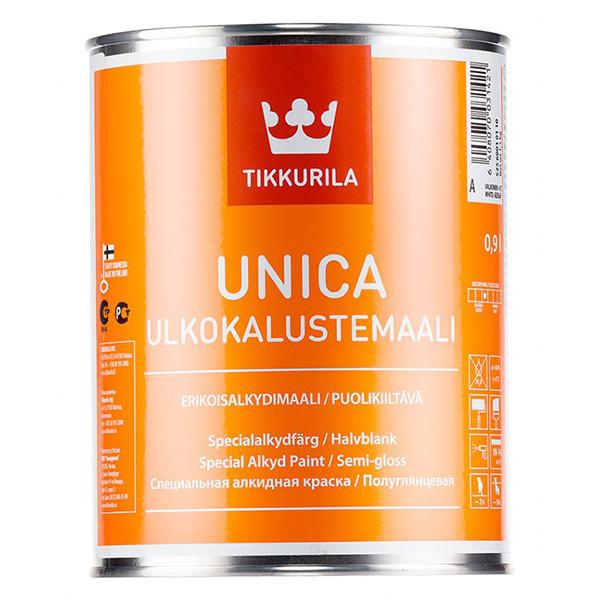 Фото - Краска алкидная специальная Tikkurila UNICA A п/гл 0,9л добавки