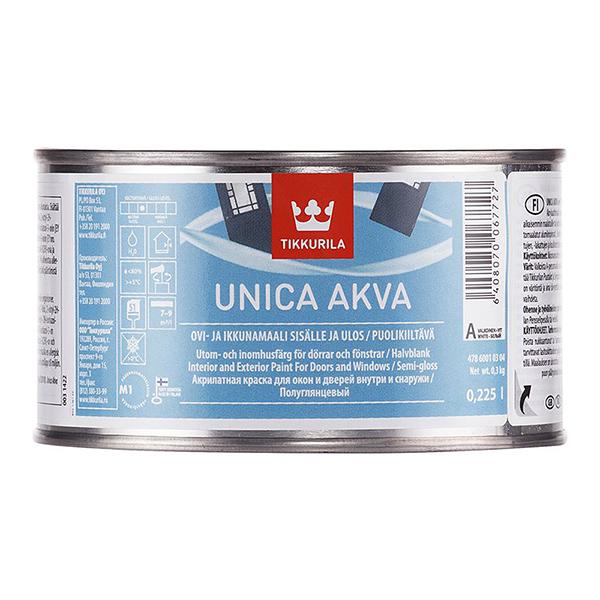 Фото - Краска для окон и дверей UNICA AKVA MAALI A п/гл 0,225л добавки