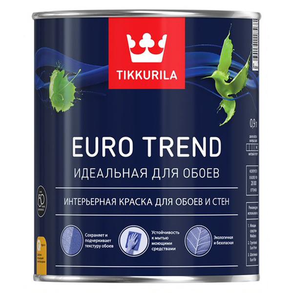 Краска для обоев и стен Tikkurila EURO TREND основа A 0,9 л фото