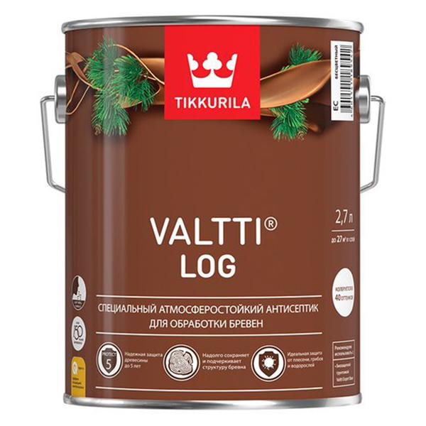 Антисептик Tikkurila Valtti Log декоративный для дерева тик 2,7 л