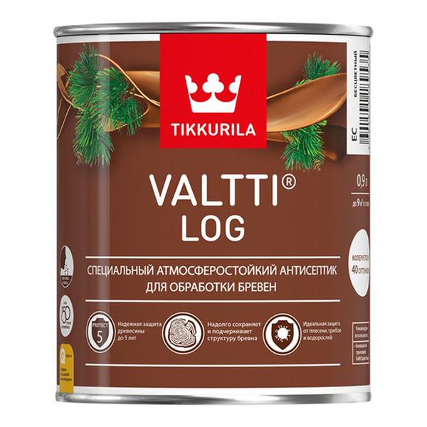Антисептик Tikkurila Valtti Log декоративный для дерева орегон 0,9 л