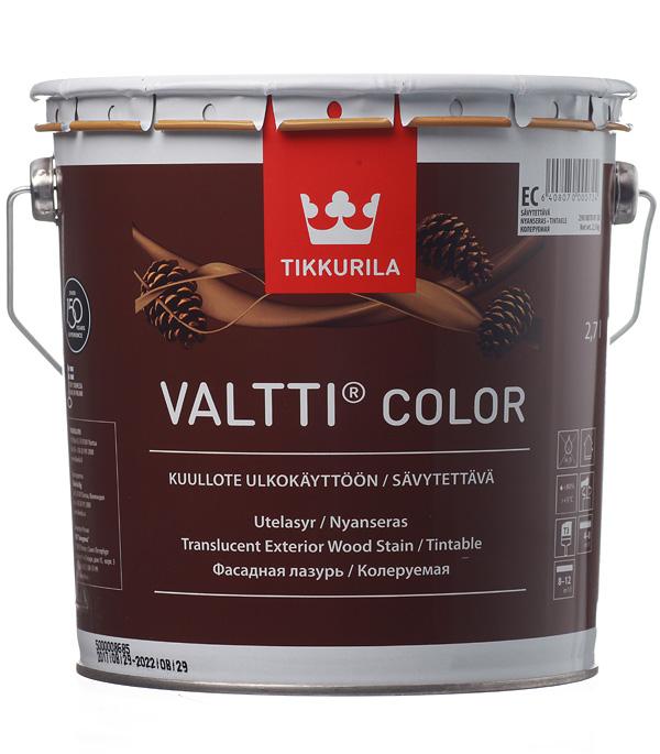 Антисептик Tikkurila Valtti Color декоративный для дерева бесцветный 2,7 л