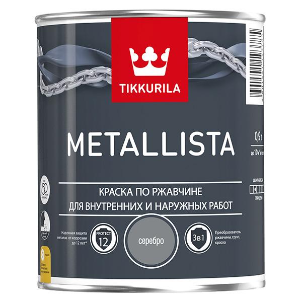 Краска по ржавчине Tikkurila Metallista серебристая глянцевая
