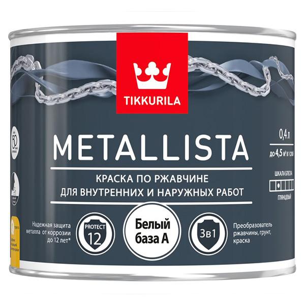 Краска по ржавчине Tikkurila Metallista A глянцевая