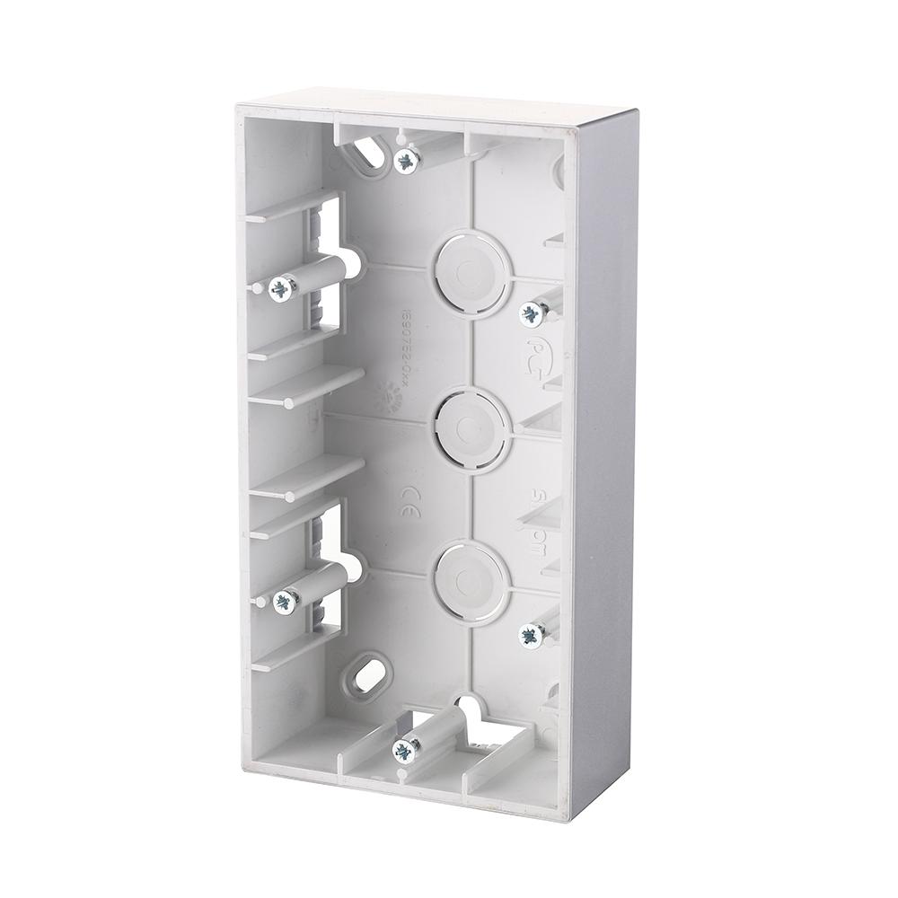 Коробка монтажная Simon 15 1590752-033 двухместная открытая установка алюминий цена 2017