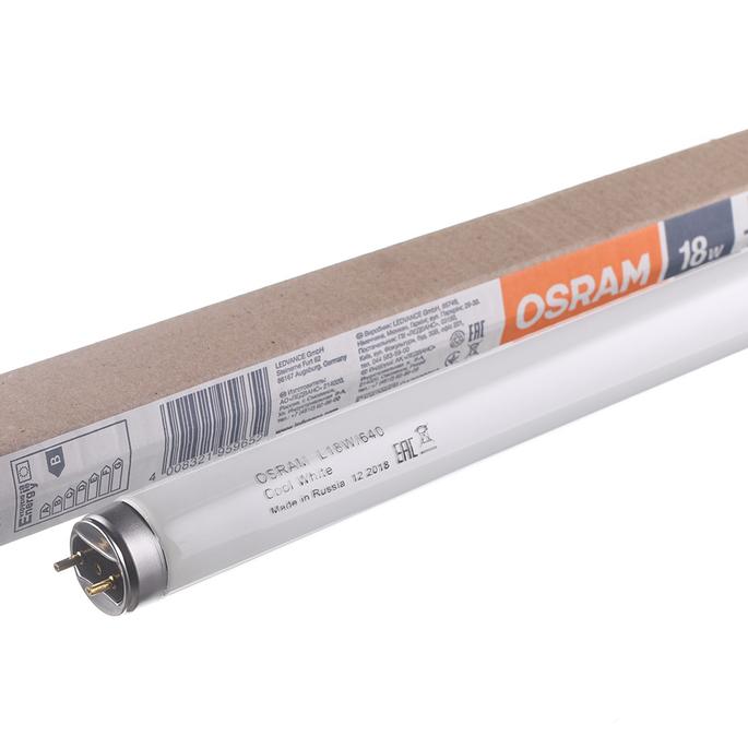 Лампа люминесцентная Osram 18 Вт G13 трубка T8 4000 К дневной свет 590 мм (25 шт.)