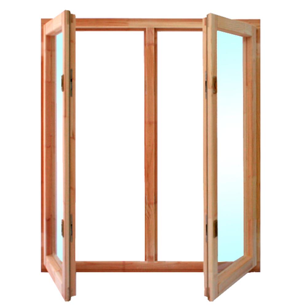 Окно деревянное террасное 1160х1000х45 мм 2 створки поворотные