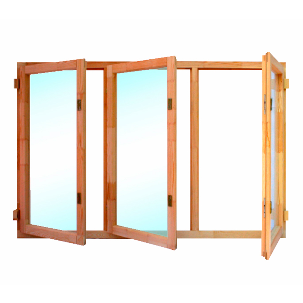 Окно деревянное террасное 1160х1770х45 мм 2 створки поворотные