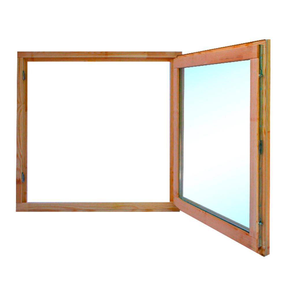 Окно деревянное 860х870х45 мм 1 створка поворотная