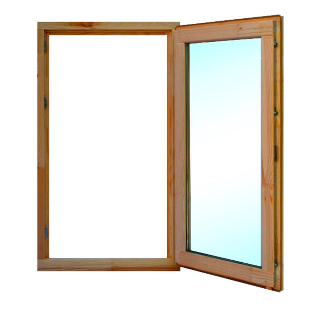 Окно деревянное 1000х570х45 мм 1 створка поворотная