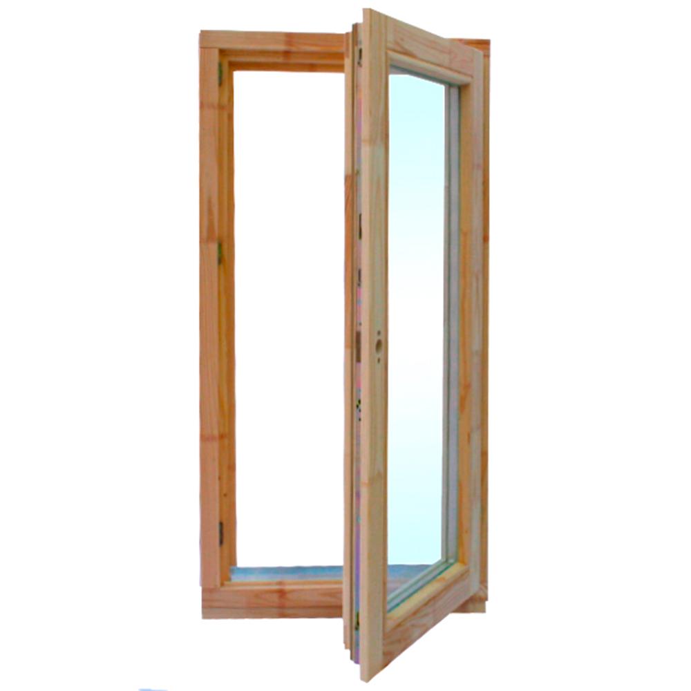 Окно деревянное 1160х570х60 мм 1 створка поворотная