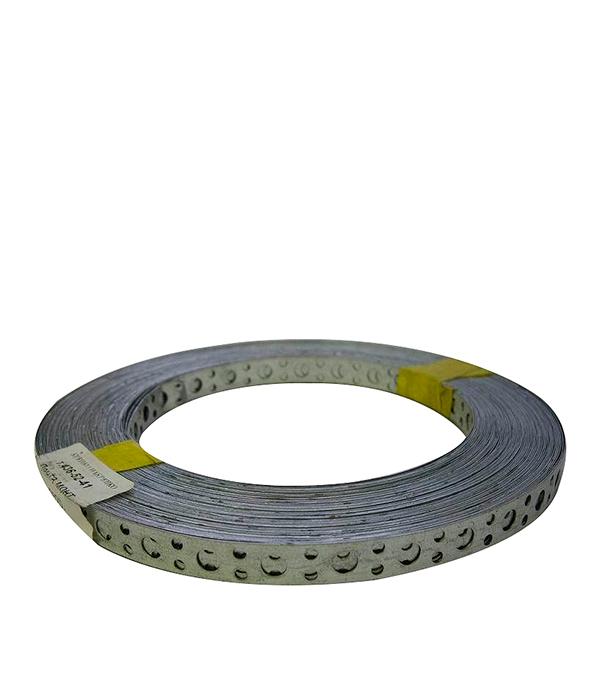 Лента крепежная перфорированная прямая 12х0.5 мм 25 м лента крепежная монтажная lm 40х2 мм 10 м