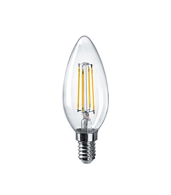 Купить Лампа светодиодная Navigator E14 6Вт филаментная свеча 2700К теплый свет