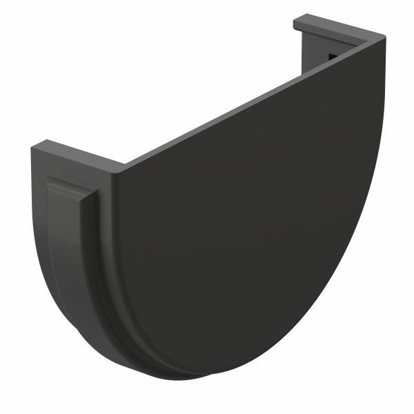 Заглушка желоба Docke Premium пластиковая d120 мм графитовый серый RAL 7024 заглушка желоба docke premium пластиковая d120 мм графитовый серый ral 7024